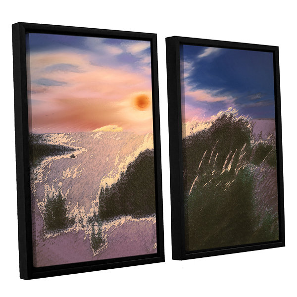 Brushstone Windswept By Dean Uhlinger 2-pc. Floater Framed Canvas Wall Art