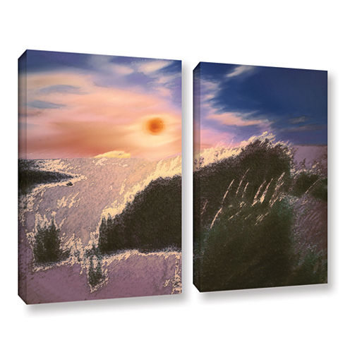 Brushstone Windswept By Dean Uhlinger 2-pc. Gallery Wrapped Canvas Wall Art