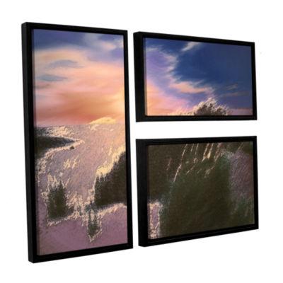 Brushstone Windswept By Dean Uhlinger 3-pc. Flag Floater Framed Canvas Wall Art