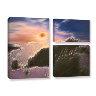 Brushstone Windswept By Dean Uhlinger 3-pc. Flag Gallery Wrapped Canvas Wall Art