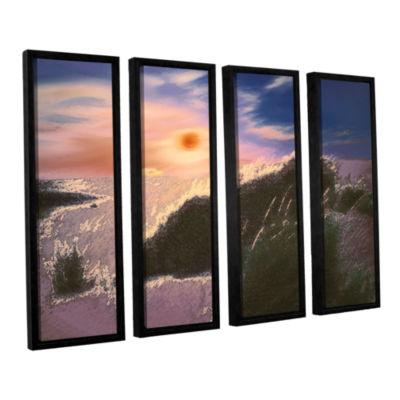 Brushstone Windswept By Dean Uhlinger 4-pc. Floater Framed Canvas Wall Art