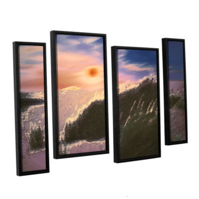 Brushstone Windswept By Dean Uhlinger 4-pc. Floater Framed Staggered Canvas Wall Art