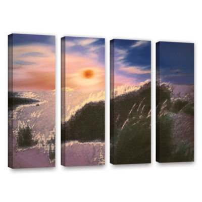 Brushstone Windswept By Dean Uhlinger 4-pc. Gallery Wrapped Canvas Wall Art