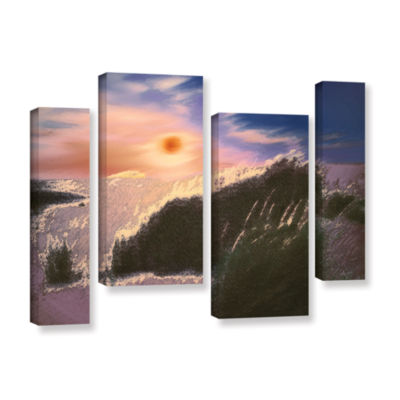 Brushstone Windswept By Dean Uhlinger 4-pc. Gallery Wrapped Staggered Canvas Wall Art