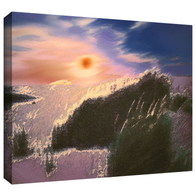 Brushstone Windswept By Dean Uhlinger Gallery Wrapped Canvas Wall Art