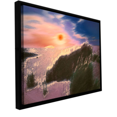 Brushstone Windswept By Dean Uhlinger Gallery Wrapped Floater-Framed Canvas Wall Art