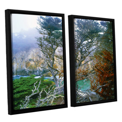 Brushstone Whalers Cove Morning Point Lobos By Dean Uhlinger 2-pc. Floater Framed Canvas Wall Art