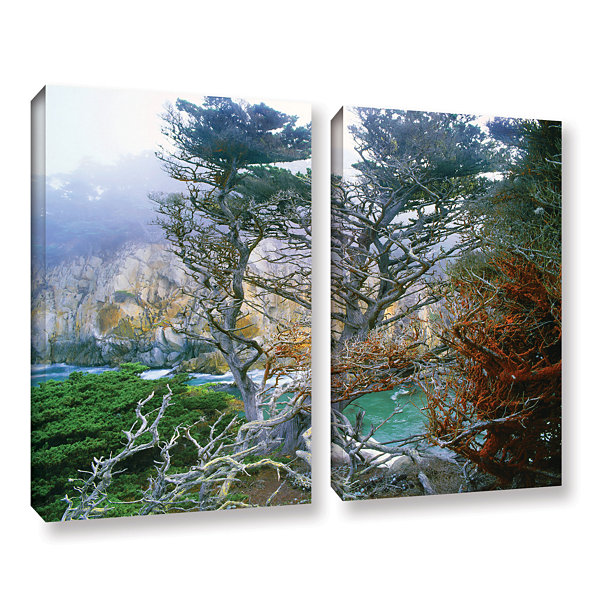 Brushstone Whalers Cove Morning Point Lobos By Dean Uhlinger 2-pc. Gallery Wrapped Canvas Wall Art