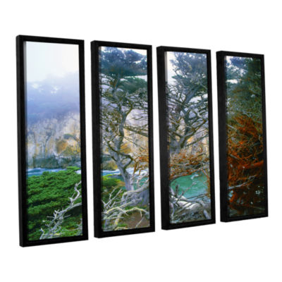 Brushstone Whalers Cove Morning Point Lobos By Dean Uhlinger 4-pc. Floater Framed Canvas Wall Art