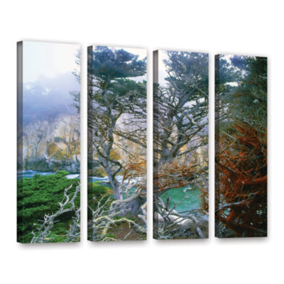 Brushstone Whalers Cove Morning Point Lobos By Dean Uhlinger 4-pc. Gallery Wrapped Canvas Wall Art