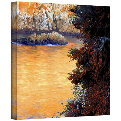 Brushstone Whalers Cove Sunset By Dean Uhlinger Gallery Wrapped Canvas Wall Art