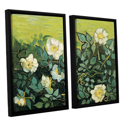 Brushstone Wild Roses 2-pc. Floater Framed CanvasWall Art