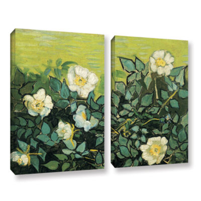 Brushstone Wild Roses 2-pc. Gallery Wrapped CanvasWall Art