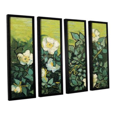Brushstone Wild Roses 4-pc. Floater Framed CanvasWall Art