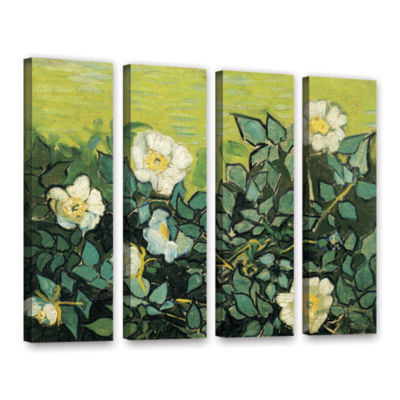 Brushstone Wild Roses 4-pc. Gallery Wrapped CanvasWall Art