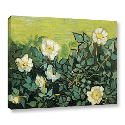 Brushstone Wild Roses Gallery Wrapped Canvas WallArt