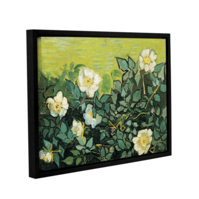 Brushstone Wild Roses Gallery Wrapped Floater-Framed Canvas Wall Art