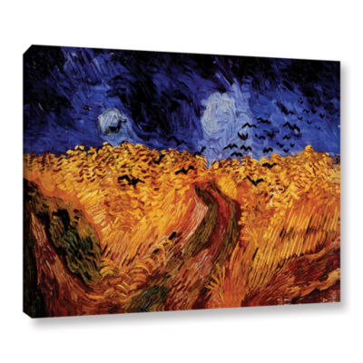 Brushstone Whaetfield With Crows Gallery Wrapped Canvas Wall Art