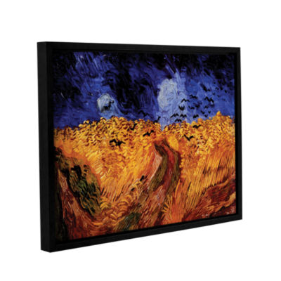 Brushstone Whaetfield With Crows Gallery Wrapped Floater-Framed Canvas Wall Art