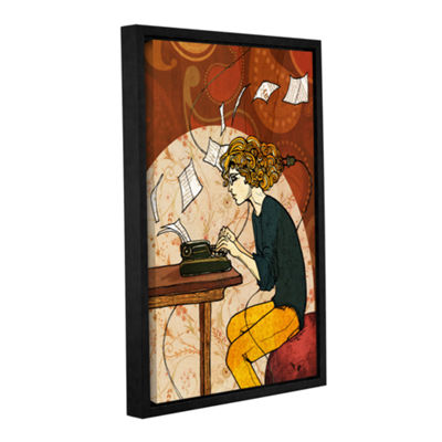Brushstone Wired To Write Gallery Wrapped Floater-Framed Canvas Wall Art