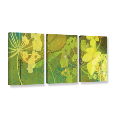 Brushstone Wildflower Shadows 3-pc. Gallery Wrapped Canvas Wall Art