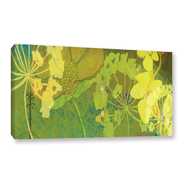 Brushstone Wildflower Shadows Gallery Wrapped Canvas Wall Art
