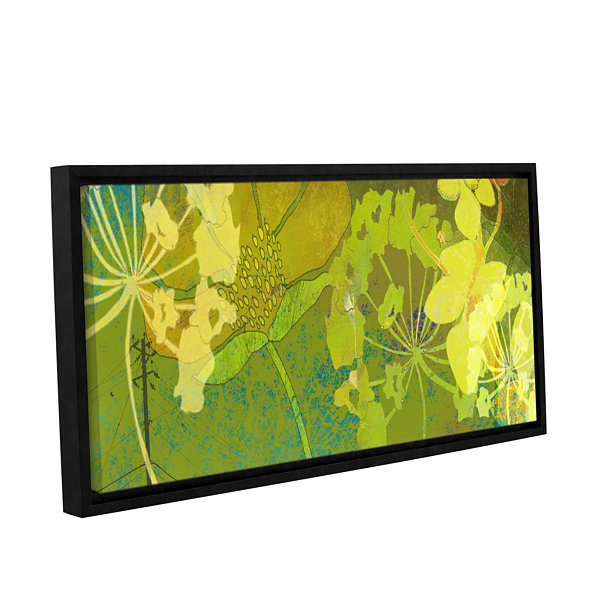 Brushstone Wildflower Shadows Gallery Wrapped Floater-Framed Canvas ...