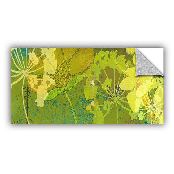 Brushstone Wildflower Shadows Removable Wall Decal