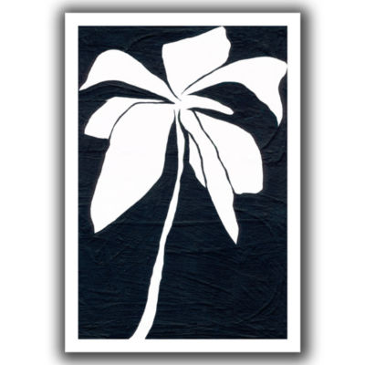 Brushstone White Flower Canvas Wall Art