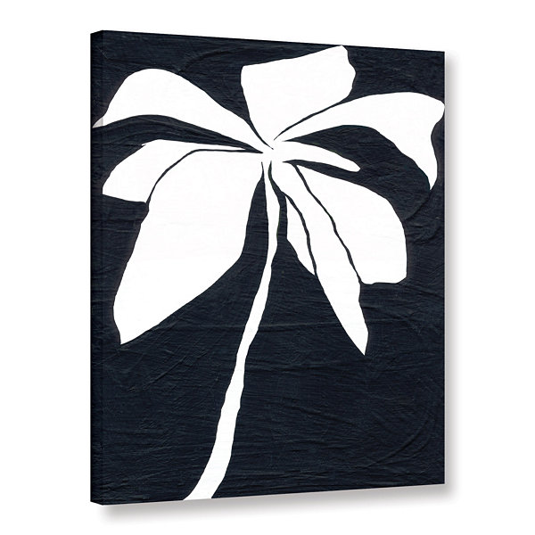 Brushstone White Flower Gallery Wrapped Canvas Wall Art