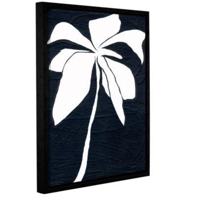 Brushstone White Flower Gallery Wrapped Floater-Framed Canvas Wall Art