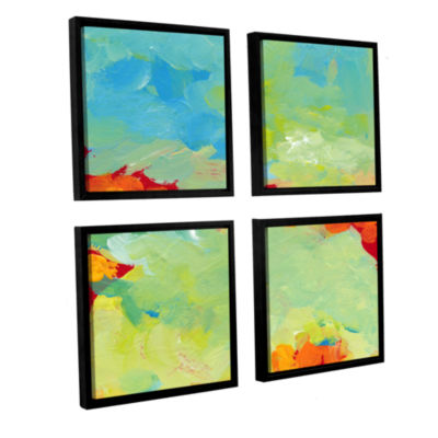 Brushstone When Landscapes Dream 4-pc. Square Floater Framed Canvas Wall Art