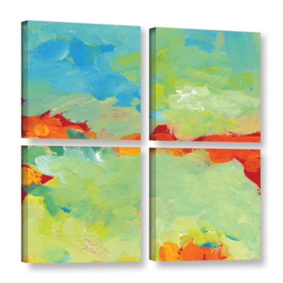Brushstone When Landscapes Dream 4-pc. Square Gallery Wrapped Canvas Wall Art