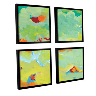 Brushstone When Landscapes Dream 2 4-pc. Square Floater Framed Canvas Wall Art