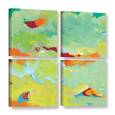 Brushstone When Landscapes Dream 2 4-pc. Square Gallery Wrapped Canvas Wall Art