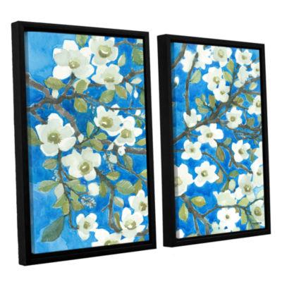 Brushstone White Blossoms By Norman Wyatt Jr. 2-pc. Floater Framed Canvas Wall Art