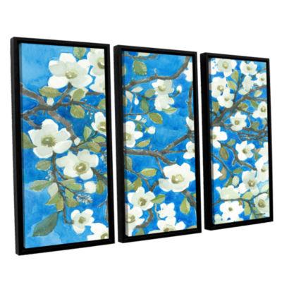 Brushstone White Blossoms By Norman Wyatt Jr. 3-pc. Floater Framed Canvas Wall Art