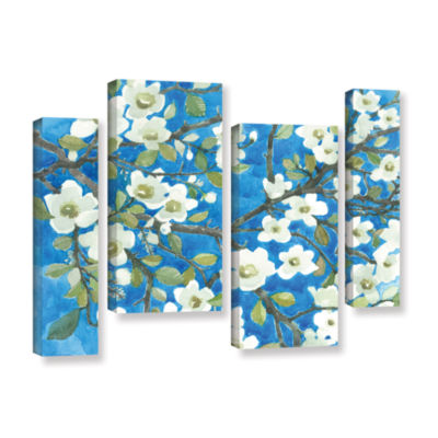 Brushstone White Blossoms By Norman Wyatt Jr. 4-pc. Gallery Wrapped Staggered Canvas Wall Art