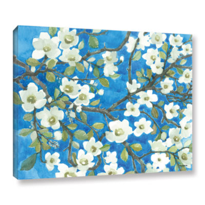 Brushstone White Blossoms By Norman Wyatt Jr. Gallery Wrapped Canvas Wall Art