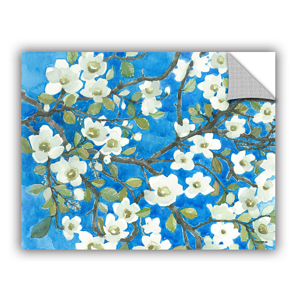 Brushstone White Blossoms By Norman Wyatt Jr. Removable Wall Decal