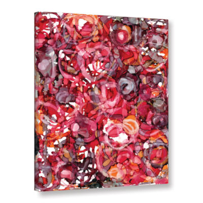 Brushstone Wild Roses By Norman Wyatt Jr. GalleryWrapped Canvas Wall Art
