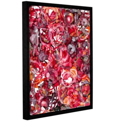 Brushstone Wild Roses By Norman Wyatt Jr. GalleryWrapped Floater-Framed Canvas Wall Art
