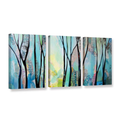 Brushstone Winter Wandering I 3-pc. Gallery Wrapped Canvas Wall Art