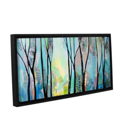 Brushstone Winter Wandering I Gallery Wrapped Floater-Framed Canvas Wall Art
