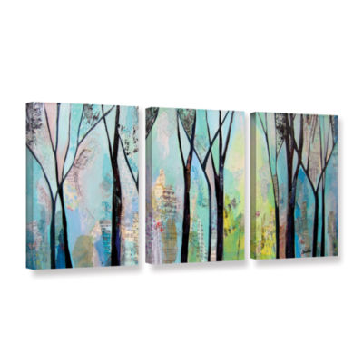 Brushstone Winter Wandering II 3-pc. Gallery Wrapped Canvas Wall Art