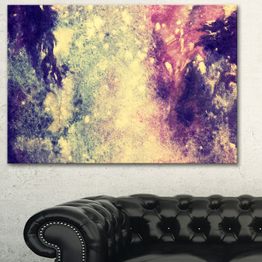 Designart Deep Blue And Purple Abstract Canvas Print