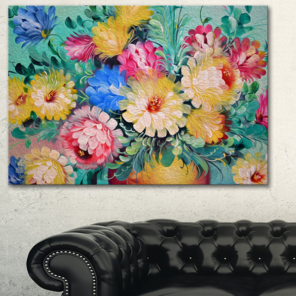Designart Digital Flowers Art Floral Art Canvas Print