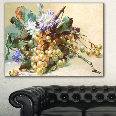Designart Digital Illustrated Flowers Floral Canvas Art Print