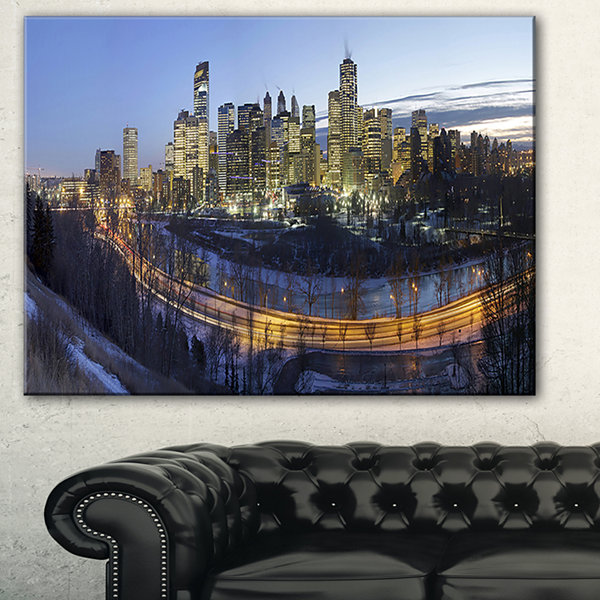 Designart Downtown Calgary Cityscape Photo CanvasPrint