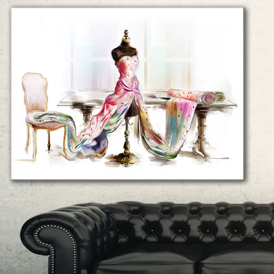 Designart Dressed Tabletop Mannequin Abstract Print On Canvas